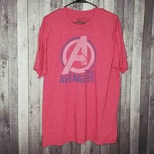 The Avengers men's red short sleeve graphic tee